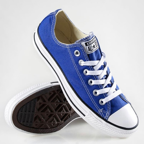 Royal Blue Converse Low Top Sneakers